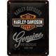 Peltikyltti 15x20 Harley-Davidson Genuine