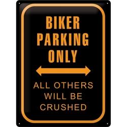 Peltikyltti 30x40 Biker Parking Only