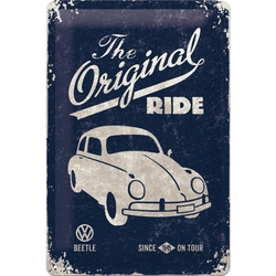Peltikyltti 20x30 VW Beetle The Original Ride