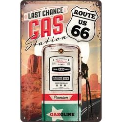 Peltikyltti 20x30 Route 66 Last chance gas station