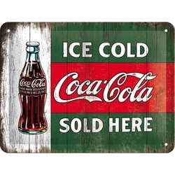 Peltikyltti 15x20 Coca-Cola Ice cold sold here