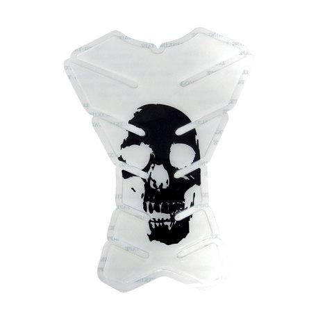 Tankkitarra Skull 160x215mm Valkoinen