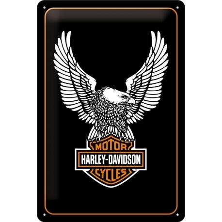 Peltikyltti 20x30 Harley-Davidson kotka