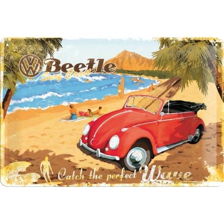 Peltikyltti 20x30 VW Beetle Catch the perfect wave