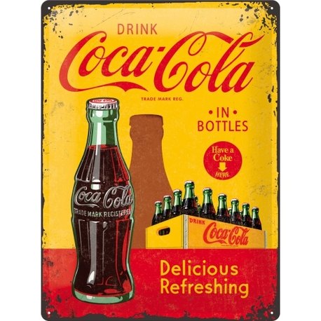 Peltikyltti 30x40 Coca-Cola in bottles