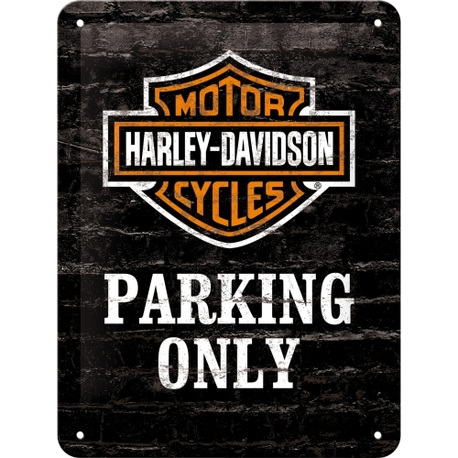 Peltikyltti 15x20 Harley-Davidson Parking Only