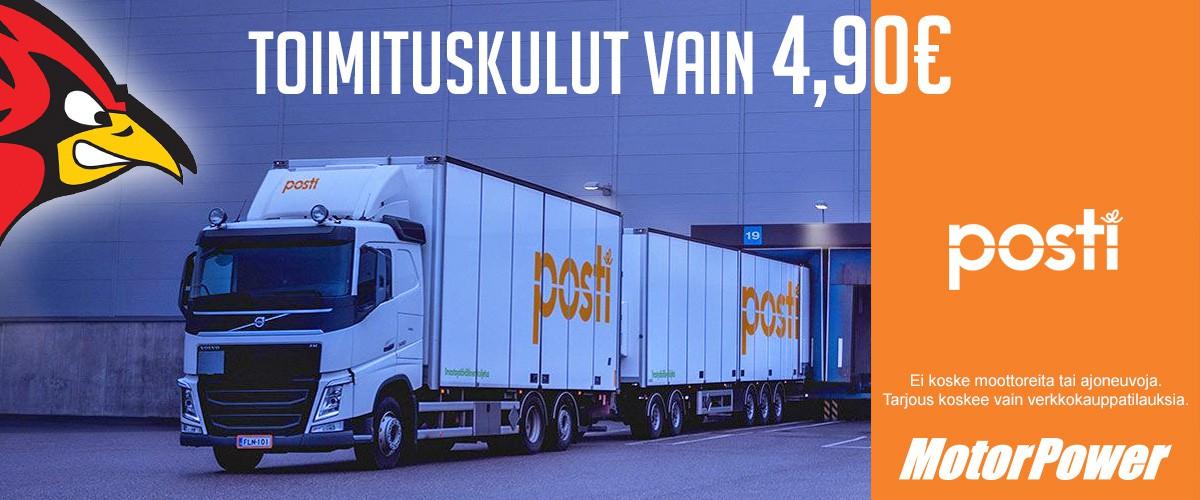 Toimituskulut verkkokauppatilauksille vain 4,90€!